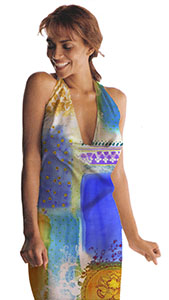 Photo draped Patchwork Textile Body